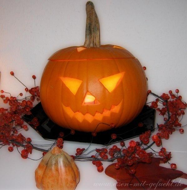 halloween, kürbissuppe