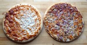 Bofrost: glutenfreie und laktosefreie Pizza - Fertig gepacken