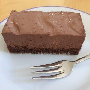 Laktose- und glutenfreie Kuchenschnitten Schoko