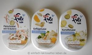 Rewe, laktosefreie Salate, frei von