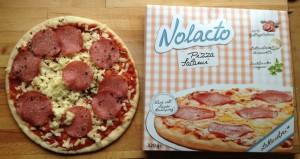 Die Nolacto-Salami-Pizza