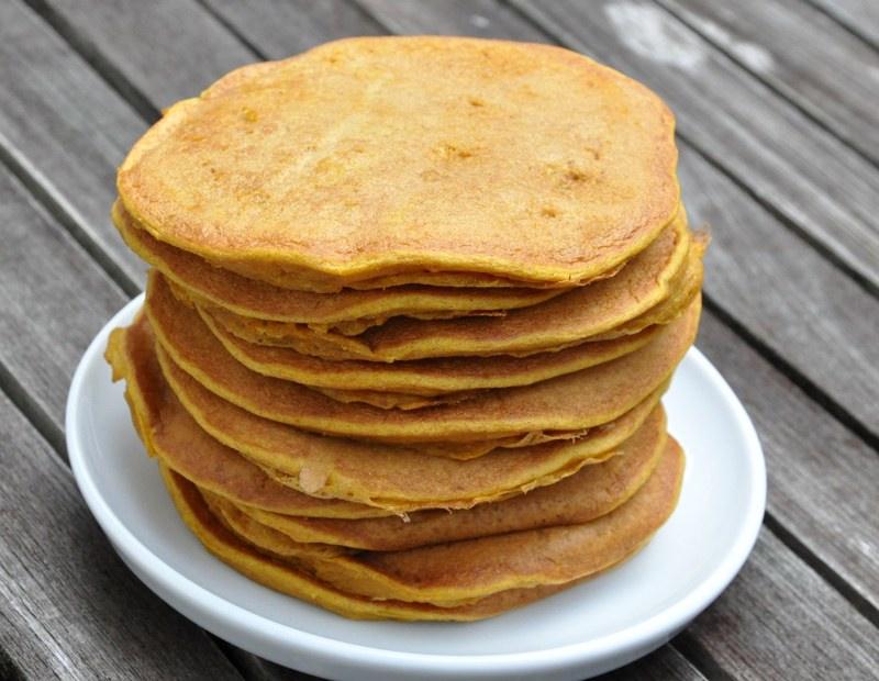 Laktosefreie Kürbispfannkuchen