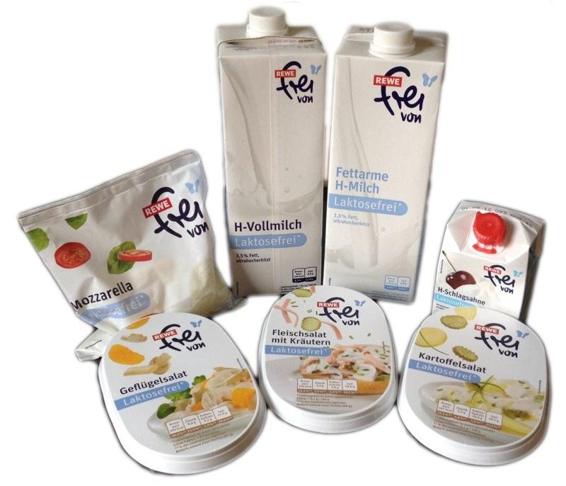 Rewe, frei von, laktosefreie Produkte