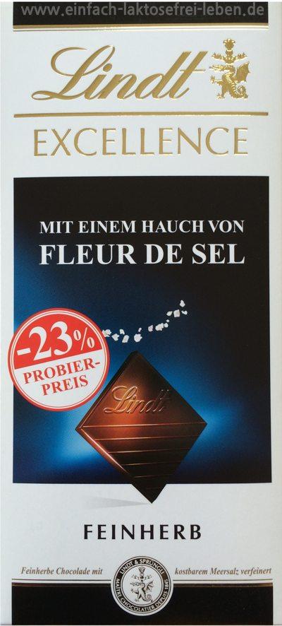 Schokolade, laktosefrei, Lindt. fleur de sel