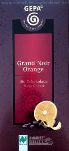 Grand Noir Orange, Schokolade, laktosefrei, bio, fair trade