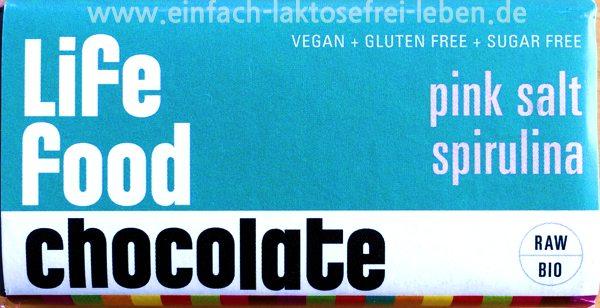 laktosefreie schokolade,spirulina, life food